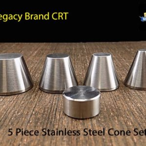 "Stainless Steel Folding Cone Set (1/4"", 1/2"" 5/8"", 3/4"" and spacer)"