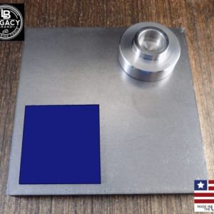 5 x 5 steel plate with 6 ton ram head and urethane pad
