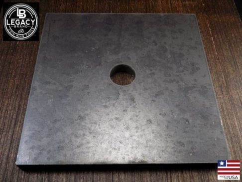 7 x 7 steel plate with hole