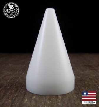 17 Degree White Delrin Folding Cone