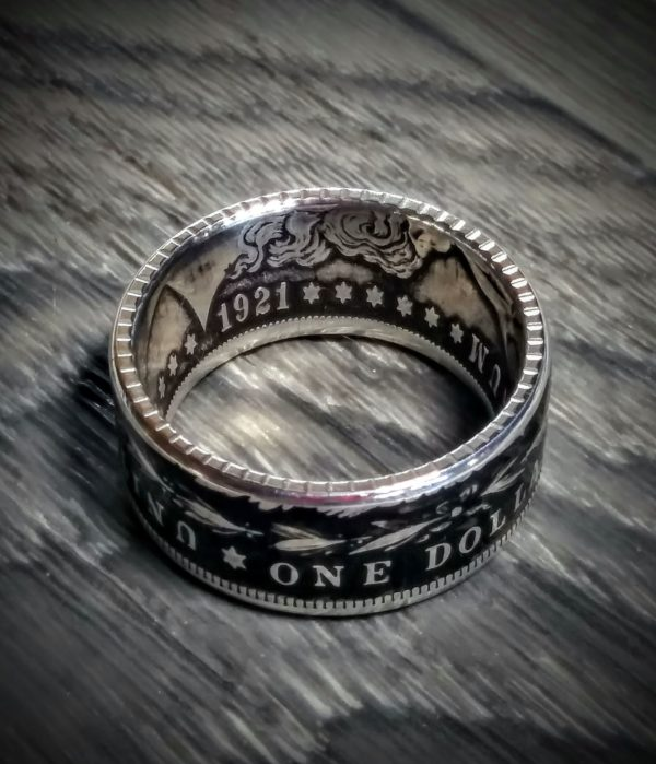 Coin Ring Stamped with Reed stamping die by Gary ROSA